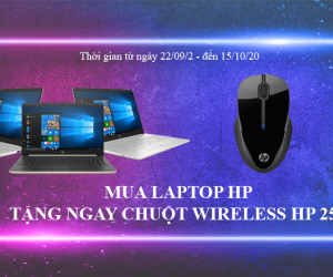 MUA LAPTOP HP TẶNG NGAY MOUSE WIRELESS HP 250